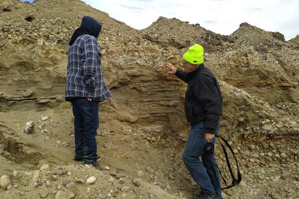 Hand Hills prairie dog burrows